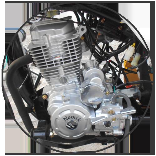 Κινητήρας euro 4 200cc injection τρίκυκλου με καρότσα Nomik