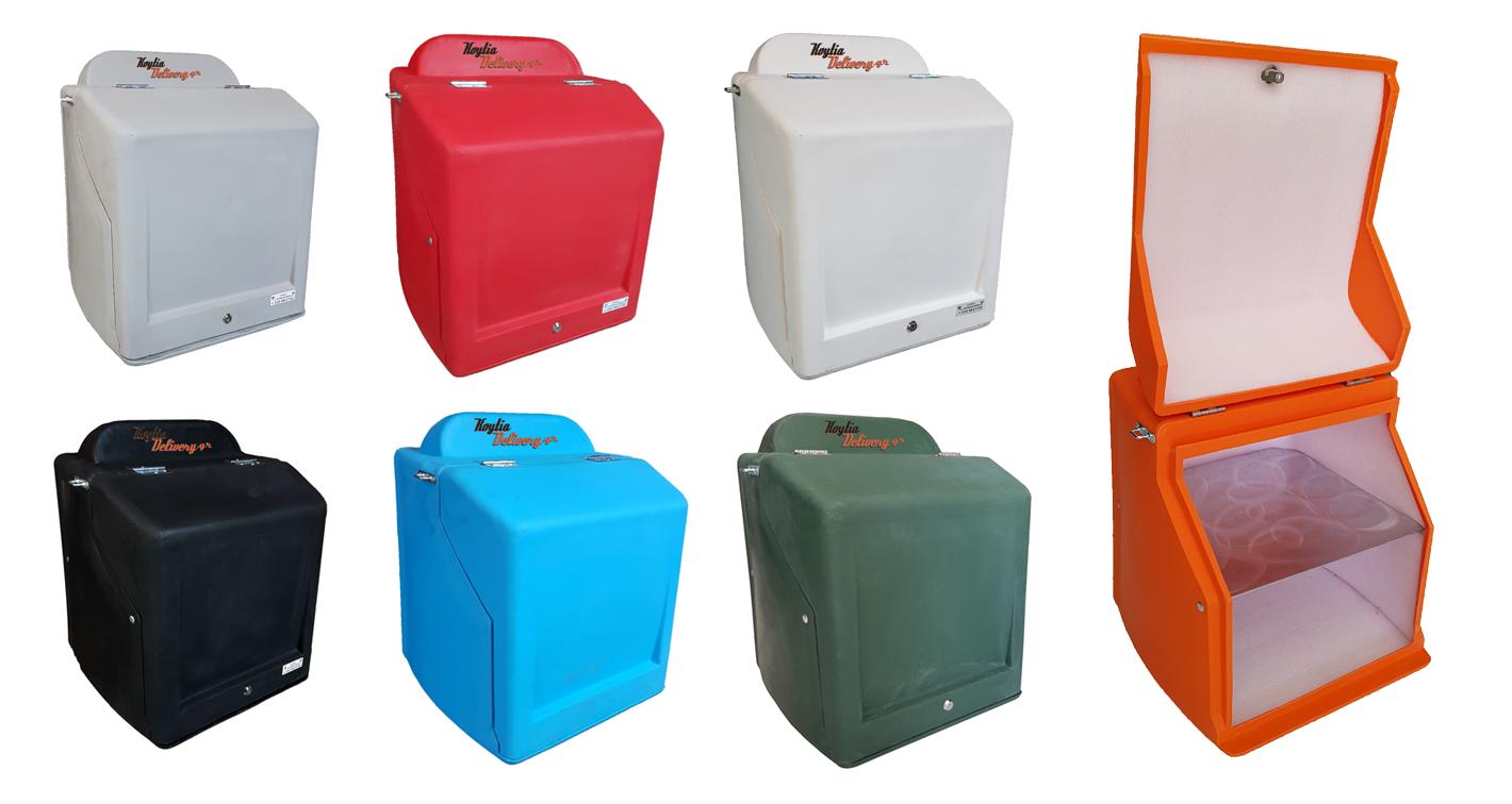 Κουτιά ντελίβερι κούριερ διανομής ταχυδρομείου πλαστικά πολυεστερικά