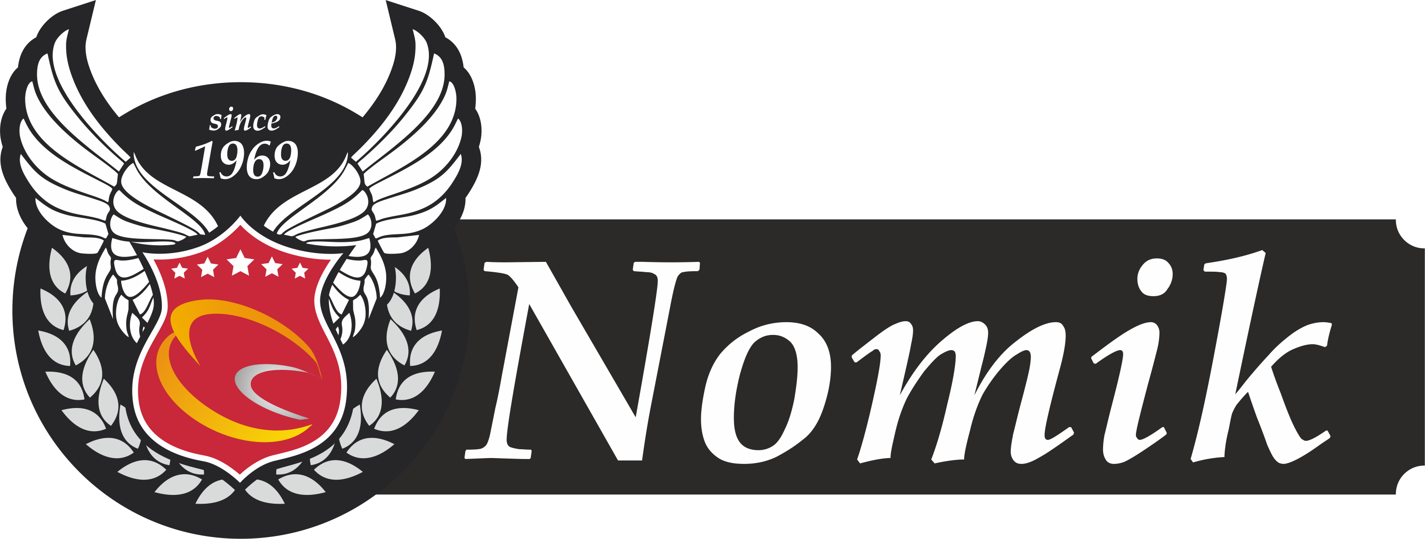 Λογότυπο προϊόντων εισαγωγής NOMIK αποκλειστικά απο την εταιρεία MOTONOMIKOS ΝΟΜΙΚΟΣ