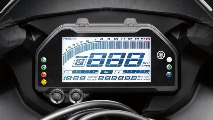 Νέα ψηγιακή οθόνη πολλαπλών λειτουργιών Yamaha YZF R3
