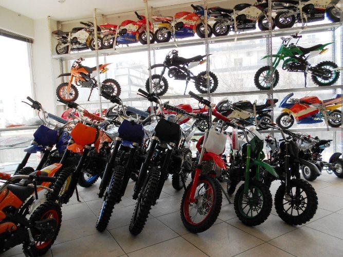 Παιδικά βενζινοκίνητα mini moto motocross στο κατάστημα MOTONOMIKOS