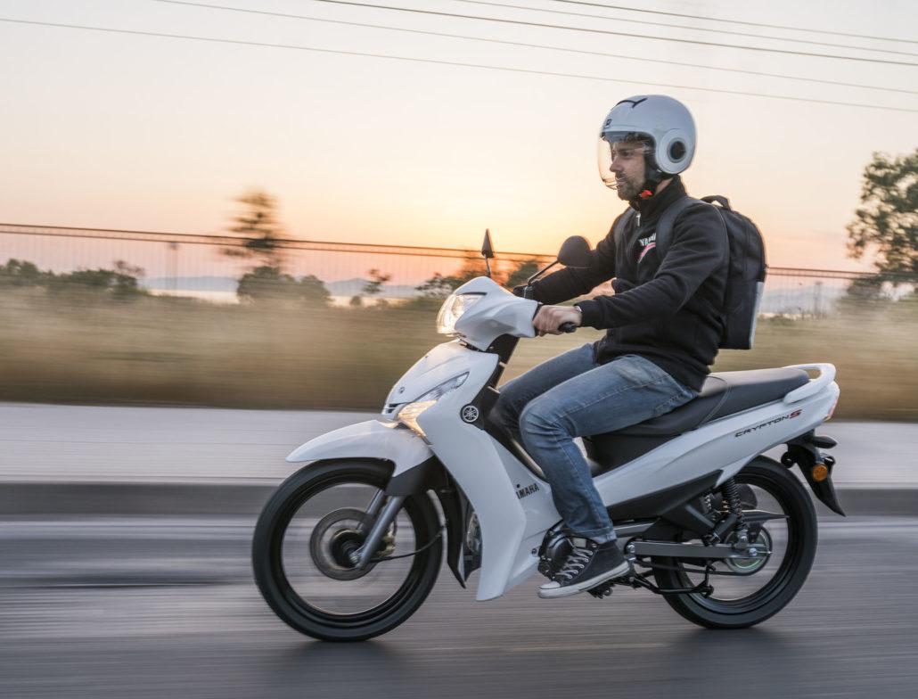 Yamaha Crypton S 115 Άσπρο αριστερή πλευρά