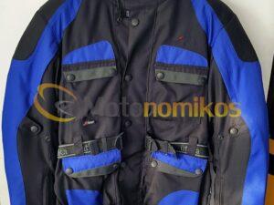 Αδιάβροχο μπουφάν μηχανής cortura ανάκλαση μπλε με κόκκαλα και εσωτερική επένδυση Utika 987431