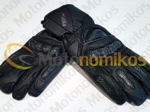 Γάντια μηχανής με κόκκαλα μαύρα UTIKA
