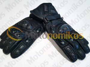 Δερμάτινα γάντια άριστης ποιότητας με κόκκαλα για μεγάλη προστασία μαύρα UTIKA