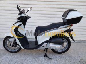 Μεταχειρισμένα Honda SH150 SH 150 μοντέλο 2010 με μπαγκαζιέρα άσπρο αριστερή μεριά-min