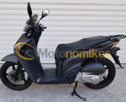 Μεταχειρισμένο HONDA SH150 SH 150 SPORTY μαύρο μοντέλο 2011 αριστερή μεριά-min