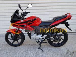 Μεταχειρισμένο Honda CBF125 CBF 125 μοντέλο 2012 κόκκινο αριστερή μεριά-min
