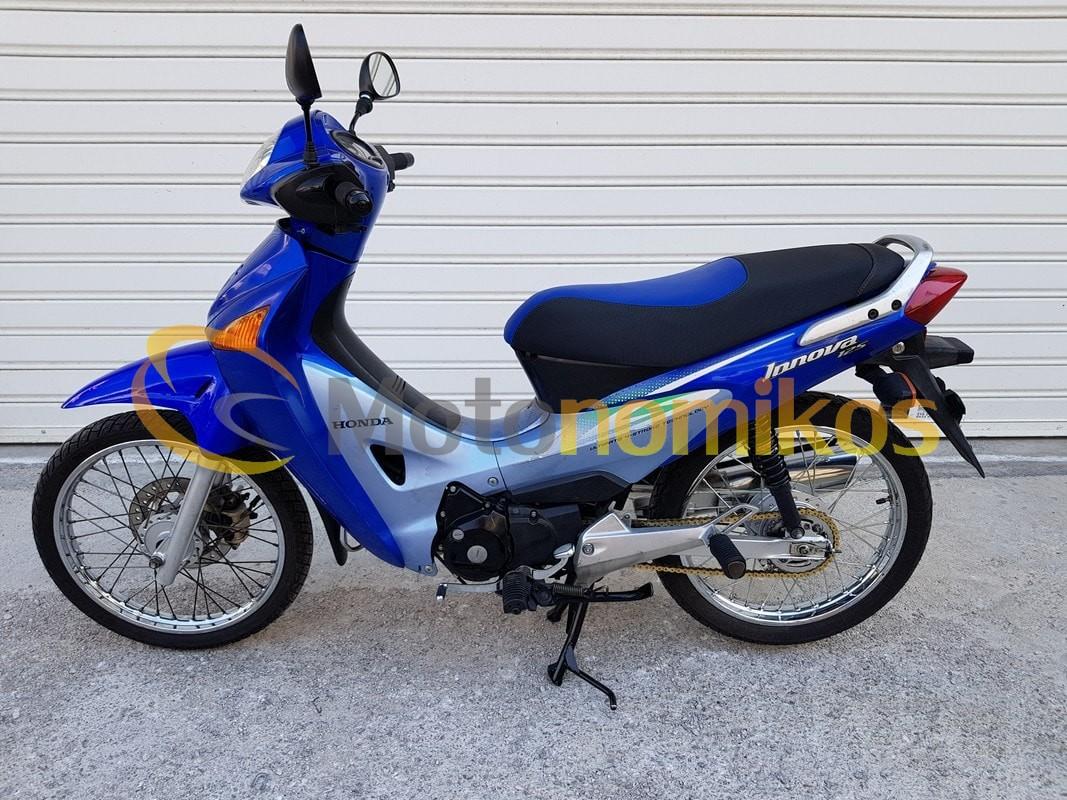 Μεταχειρισμένο Honda INNOVA καρμπυρατέρ 125cc μοντέλο 2006 μπλε αριστερή μεριά-min