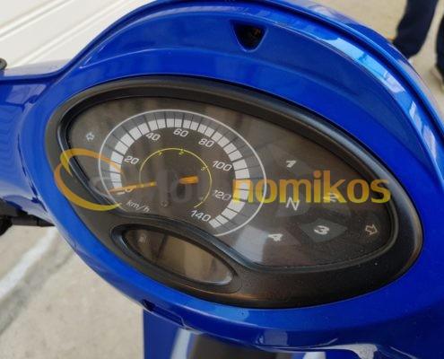 Μεταχειρισμένο Honda INNOVA καρμπυρατέρ 125cc μοντέλο 2006 μπλε κοντέρ-min