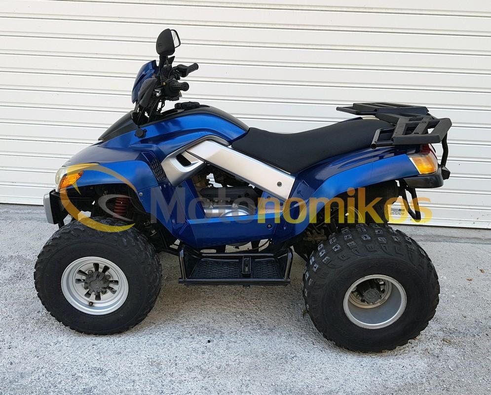 Μεταχειρισμένη γουρούνα ATV μπλε Sym Quadlander 300cc αριστερή μεριά