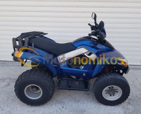 Μεταχειρισμένη γουρούνα ATV μπλε Sym Quadlander 300cc δεξιά μεριά