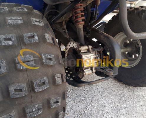 Μεταχειρισμένη γουρούνα ATV μπλε Sym Quadlander 300cc πίσω μεριά