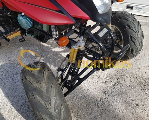 Μεταχειρισμένη γουρούνα - atv GXJAO 250cc κινέζικη σε προσφορά μπροστινές ρόδες λάστιχα-min