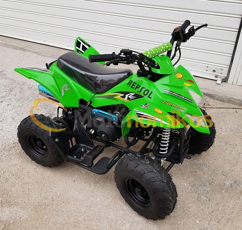 Παιδική βενζινοκίνητη γουρούνα atv 005 110cc πράσινη μπροστινή μεριά