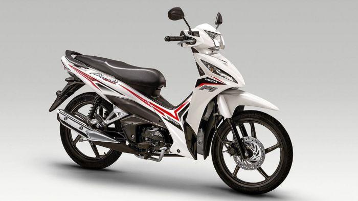 Honda Astrea Grand 110 2018 2019 χαμηλή τιμή ετοιμοπαράδοτο λευκό δεξιά μεριά