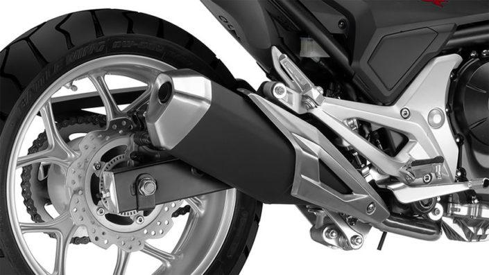 Honda NC750X 2018 2019 εξάτμιση πίσω ρόδα τροχός δισκόφρενο δισκόπλακα