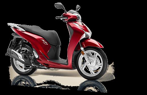 Honda SH 125 Mode 2018 2019 euro 4 κόκκινο