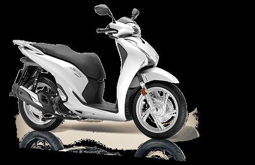 Honda SH 125 Mode 2018 2019 euro 4 λευκό άσπρο