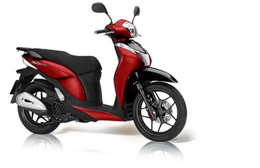Honda SH 125i Mode 2018 2019 κόκκινο