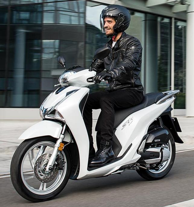 Honda SH 150 άσπρο λευκό αριστερή μεριά