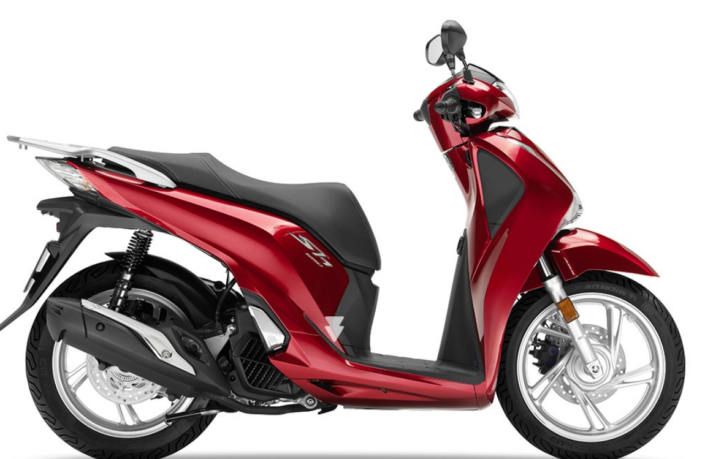 Honda SH 150 κόκκινο δεξιά μεριά