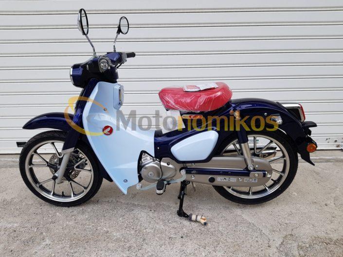 Honda Super Cub μπλε 125 αριστερή μεριά