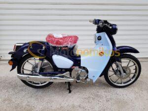 Honda Super Cub 125 μπλε δεξιά μερια