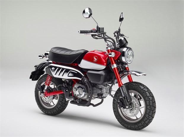 Honda monkey Z125 πέρλα κόκκινο χρώμα 2018 2019 αντιπροσωπεία κάθετη μονάδα motonomikos.gr ΝΟΜΙΚΟΣ