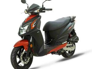 Sym Jet4 50 μαύρο πορτοκαλί