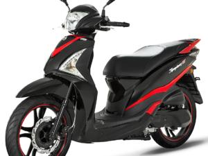 Sym Symphony ST 200i ABS μαύρο κόκκινο