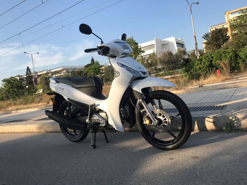 Yamaha Crypton S 115 Άσπρο δεξιά πλευρά